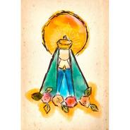Placa - Decorativa - Grande - Nossa Senhora - (gv310)