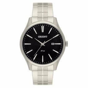 Relógio Orient Masculino Prata Fundo Preto Mbss1267 - 50m
