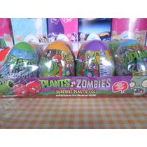 Huevo Sorpresa Plantas Vs Zombies 8pz Plastico