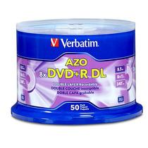 Verbatim Disco Dvd+r Dl 8x 8.5gb Campana Con 50