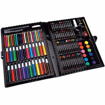 Estuche Set Arte 68 Piezas Dibujo Acuarela Crayolas Plumon