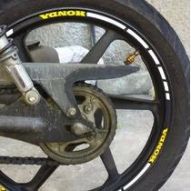 Kit Friso Refletivo Adesivo Roda M10 Moto Honda Biz 100 125