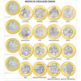 Coleções Das 16 Moedas Olimpiadas 2016 Flor De Cunho Fc *