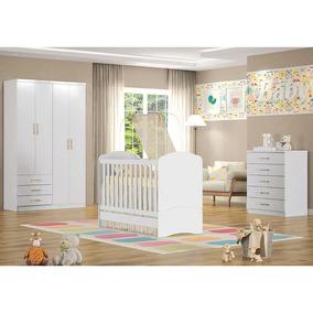 Dormitório Infantil 3 Peças - Henn Caju Bm050 Branco