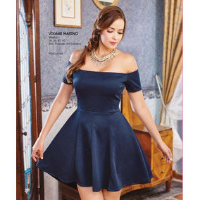 Co251- Vestido Corto Al Hombro-tallas Extra