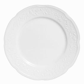 Prato Raso De Porcelana Mozart Verbano Branco 27 Cm - 12802