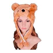 Touca Urso Ted Desenho Masha E O Urso Marrom Fantasia