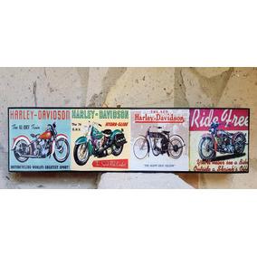 Moto Harley Davidson Cuadro Cartel Vintage Coleccionable
