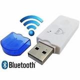 Adaptador Receptor Bluetooth Usb Pendrive Musica Carro- Azul