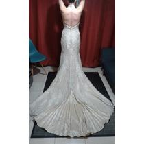 Vendo Hermoso Vestido De Novia De La Casa Blanca Color Champ