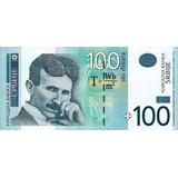 Grr-billete De Serbia 100 Dinara 2013 - Nikola Tesla