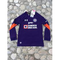 Jersey Cruz Azul Portero Morado Infantil Under Armour 2017