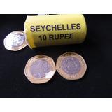 Bb#8 Moneda Tortuga 10 Rupias Seychelles Heptagonal Unc