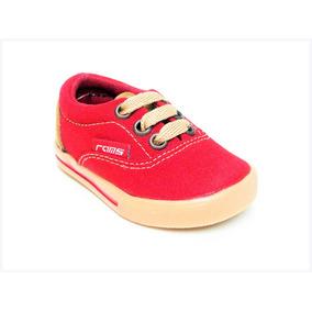 Tenis Rojos Unisex Tipo Vans Para Niña Y Niño 12 Al 17.5
