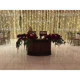 Cortina Led Blanco Calido 3x3 Interconectable Vintage Bodas
