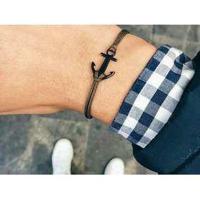 Pulsera Ancla Black Bracelet Anchor