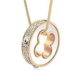 Collar Con Cristales, Ocean Heart A8-13-02