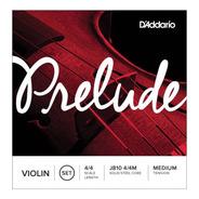 Encordado Daddario J810 4/4m Prelude Media Para Violín  4/4