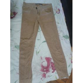 Zara Pantalon Elastizado Corderoy Talle 34