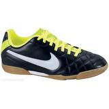 Zapatos Nike Tiempo Para Futbol Sala Negro Con Verde