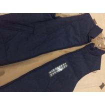 Chaleco Reversible Weatherproof Azul Y Color Khaki Talla M