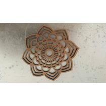 Mandala De Mdf Paquete De 12
