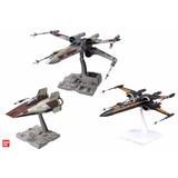 Kit Star Wars Model Bandai Poes / X-wing / A-wing 1/72 Frete