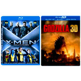 Bluray Xmen Primeira Classe + Futuro Esquecido + Godzilla 3d