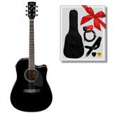 Guitarra Electroacústica Ibanez Pf15ece Bk