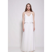 Noiva Vestido Seda Cropped Top Saia Conjunto Boho Chic