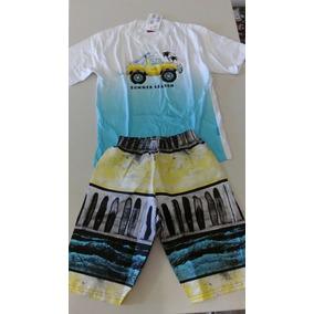 Conj. Infantil Masculino Camiseta E Ber. Kyly Summor