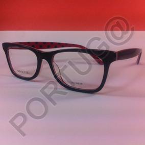 Armação Preta Com Vermelho Bolinha Óculos Lentes Grau 64198 e506a9b4e3