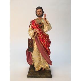Sagrado Corazón De Jesus De Vestir 40cm Brazos Articulados