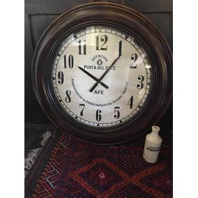 Reloj Pared Tipo Antiguo 27cm Punta Dl Este La Pedrera Rocha