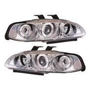 Farol Led Honda Civic Sedan 1992 A 1995 Angel Eyes Cromado