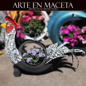 Macetas De Llantas Recicladas De Animales
