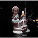 Quemador De Incienso Cascada Buda Indu Meditación + 10 Conos