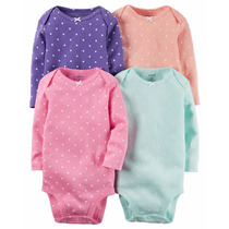 Carters Kit 4 Bodys Manga Longa Carter