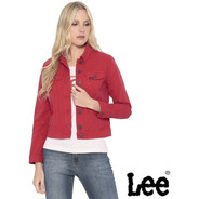Jaqueta Lee Jeans Vermelha Elastano Strech Feminina Original