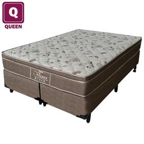 Cama Box Queen Probel +colchão Molejo Ensacado Viscoelástico