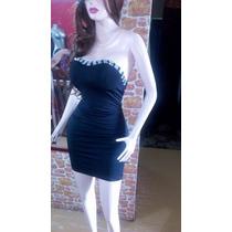 Vestido Negro Tipo Coctel Allegrak Talla S