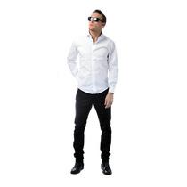 Pantalon Vestir Chupin Corte Chino Gabardina Elegante Sport