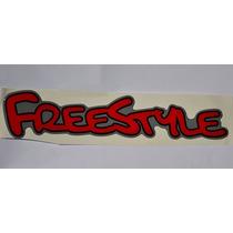 Emblema Adesivo Freestyle Vermelho Ford Ecosport Resinado