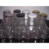 10 Frascos Vidrio Con Tapa 190cc Hexagonale Envase Souvenirs