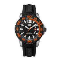 Reloj Cat Hombre Power Drive Negro/naranja/si. Pw 141.21.128