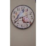 Relógio De Parede 58cm Canto Pássaros Brasileiros Mostruário