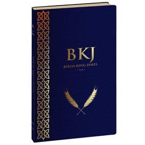 Bíblia King James Texto Fiel 1611 Ultra Fina Azul Slim