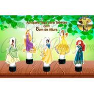 15 Apliques Ou Tags Para Tubetes Princesas Disney Mod.02
