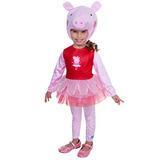 Disfraz Para Niña Tutú Del Traje Peppa Pig Super Deluxe Par