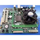 Combo Tarjeta Madre Ssocket 775 Ddr2 Proce Y Cooler